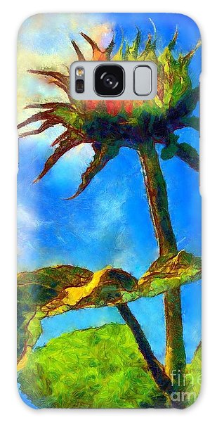 Sunflower - It's A Glorious Day She Said. Galaxy Case