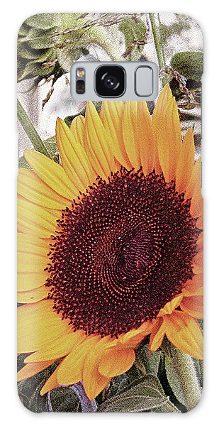 Galaxy Case featuring the painting Sunflower by John Dyess