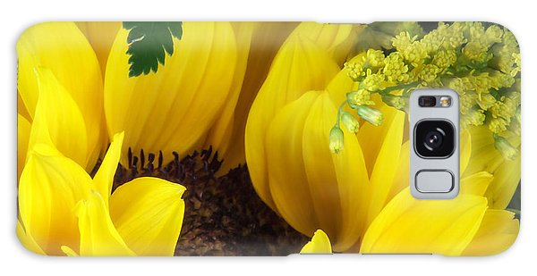 Helianthus Annuus Galaxy Case - Sunflower Macro by Tom Mc Nemar