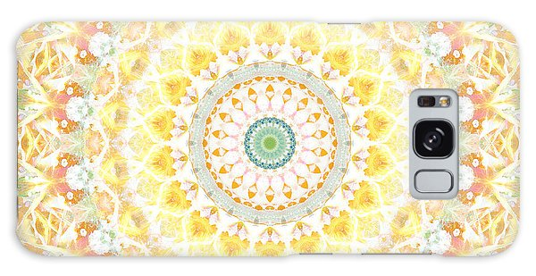 Sunflower Mandala- Abstract Art By Linda Woods Galaxy Case