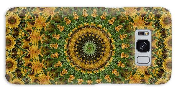 Sunflower Mandala Galaxy Case