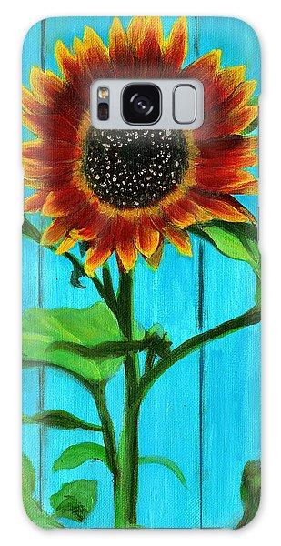 Sunflower On Blue Galaxy Case