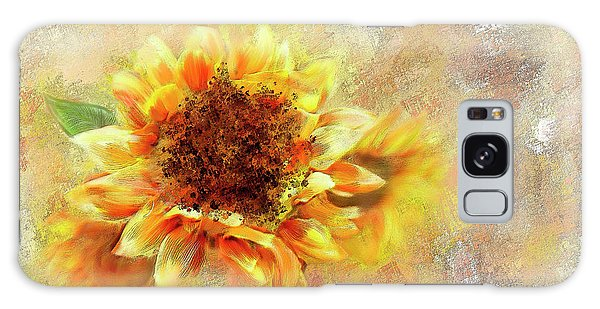 Sunflower On Fire Galaxy Case