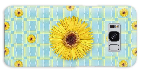 Sunflower Pattern Galaxy Case