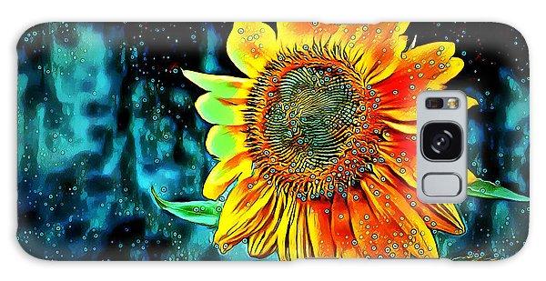Galaxy Case featuring the digital art Sunflower Rain by Pennie McCracken