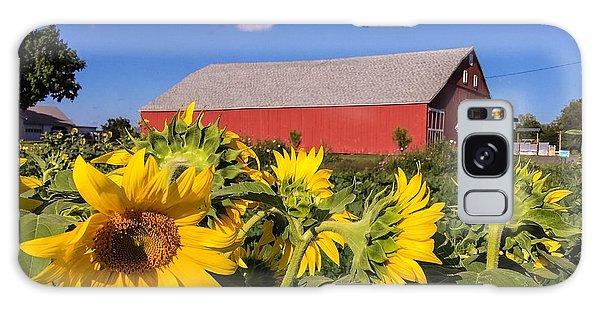 Sunflower Red Barn Galaxy Case