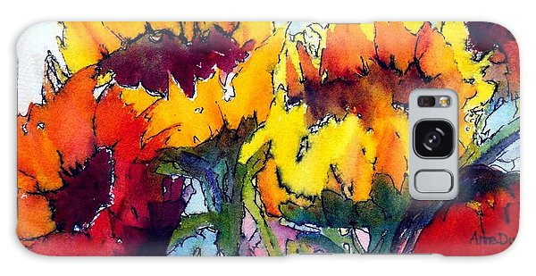 Sunflower Serenade Galaxy Case