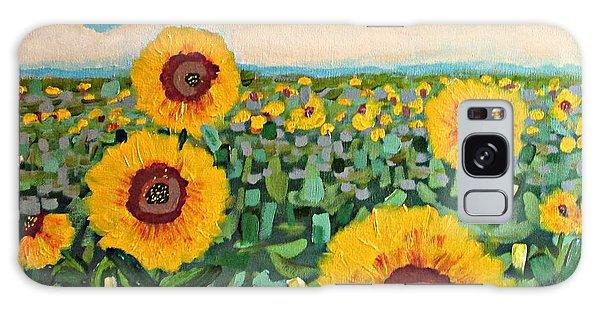 Sunflower Serendipity Galaxy Case