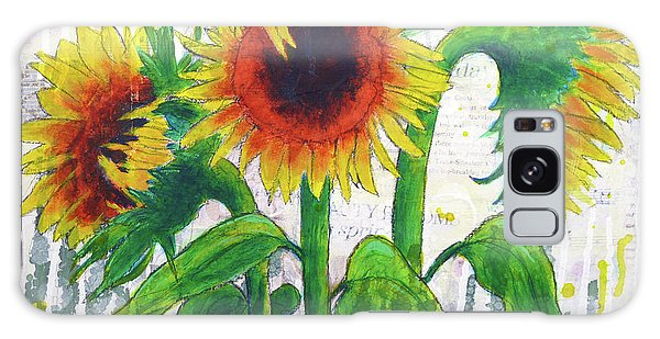 Sunflower Sonata Galaxy Case