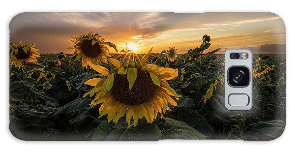 Galaxy Case featuring the photograph Sunflower Sunstar  by Aaron J Groen