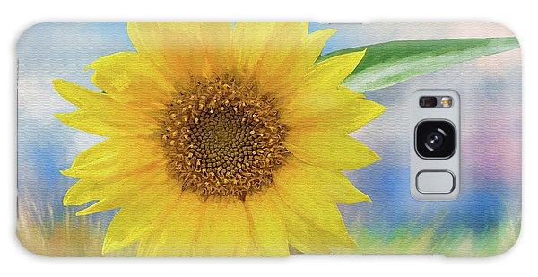 Sunflower Surprise Galaxy Case by Bonnie Barry