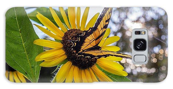 Sunflower Swallowtail Galaxy Case