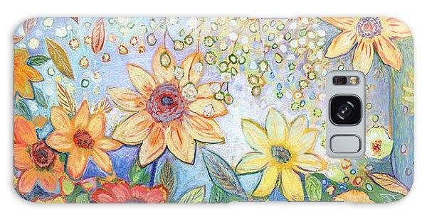 Sunflower Galaxy S8 Case - Sunflower Tropics by Jennifer Lommers
