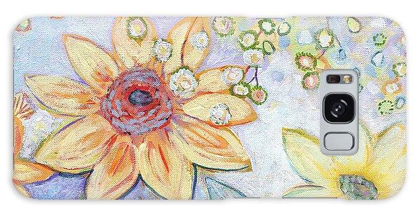Sunflower Galaxy S8 Case - Sunflower Tropics Part 2 by Jennifer Lommers