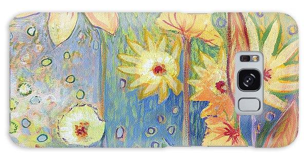 Sunflower Galaxy S8 Case - Sunflower Tropics Part 3 by Jennifer Lommers