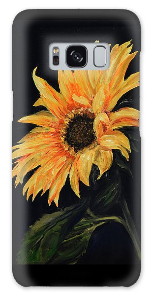 Sunflower Vii Galaxy Case by Sandra Nardone