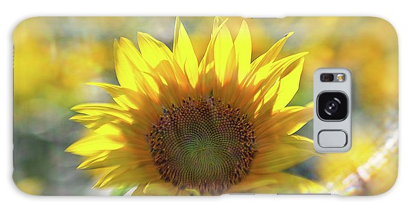 Sunflower With Lens Flare Galaxy Case