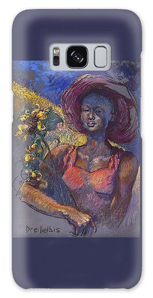 Sunflower Woman Galaxy Case
