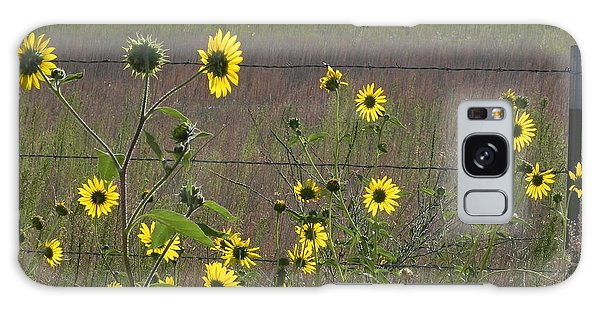 Galaxy Case - Sunflowers by Adrienne Petterson