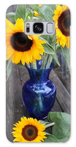 Pollen Galaxy Case - Sunflowers And Blue Vase - Still Life by Dora Sofia Caputo Photographic Design and Fine Art