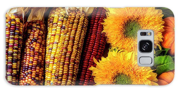 Indian Corn Galaxy Case - Sunflowers And Indian Corn by Garry Gay