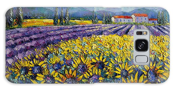 Sunflowers And Lavender Field - The Colors Of Provence Galaxy Case