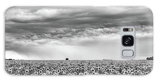 Sunflowers And Rain Showers Galaxy Case