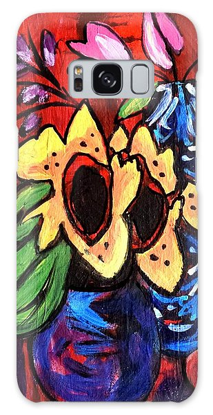 Sunflowers And Tulips Galaxy Case