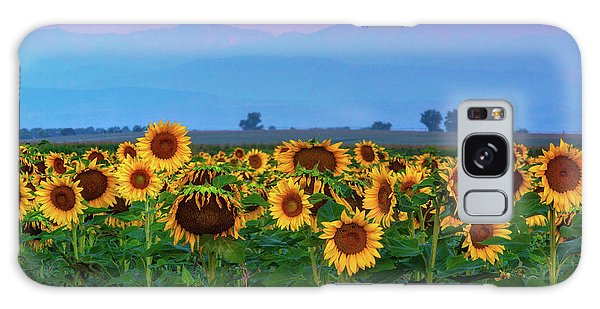 Galaxy Case featuring the photograph Sunflowers At Dawn by John De Bord