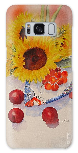 Galaxy Case featuring the painting Sunflowers by Beatrice Cloake