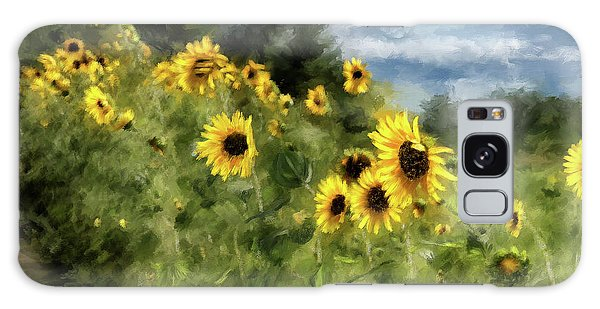 Sunflowers Bowing And Waving Galaxy Case