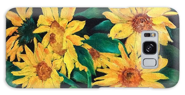 Sunflowers Galaxy Case by Ellen Canfield