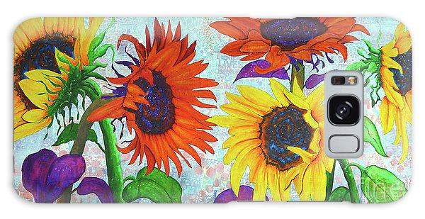 Sunflowers For Elise Galaxy Case