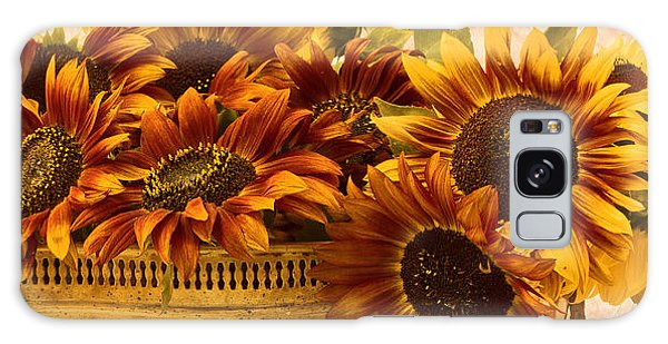 Sunflowers Galore Galaxy Case by Sandra Foster