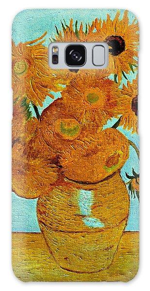 Sunflowers Galaxy Case by Henryk Gorecki
