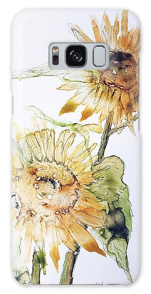 Sunflowers II Uncropped Galaxy Case