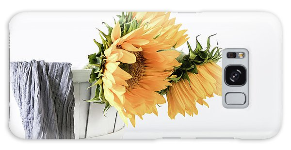 Galaxy Case featuring the photograph Sunflowers In A Basket by Kim Hojnacki