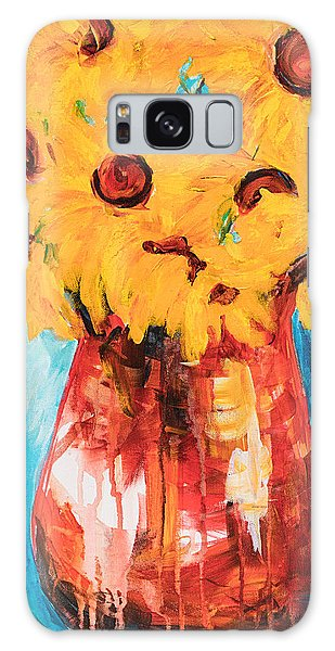Sunflowers In A Pitcher Galaxy Case