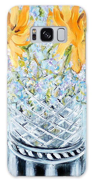 Sunflowers In A Vase. Painting Galaxy Case