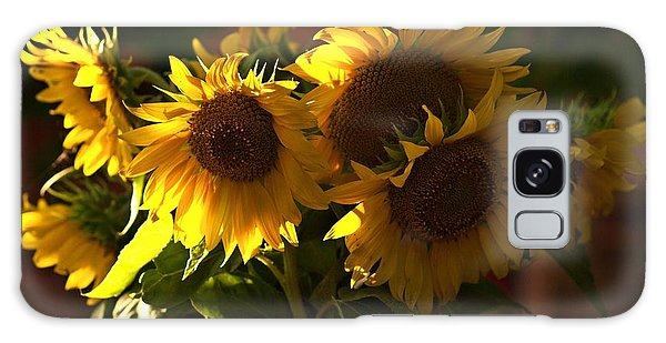 Sunflowers In A Vase Galaxy Case