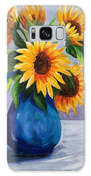 Sunflowers In Bloom Galaxy Case