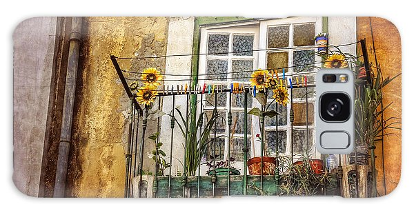 Sunflowers In The City Galaxy Case