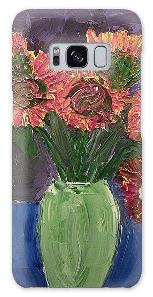 Sunflowers In Vase Galaxy Case