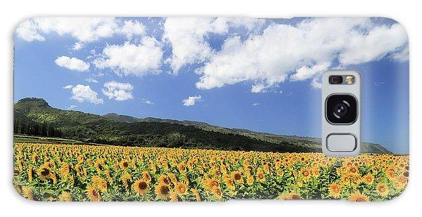Sunflowers In Waialua Galaxy Case