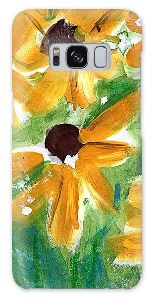 Sunflower Galaxy S8 Case - Sunflowers by Linda Woods