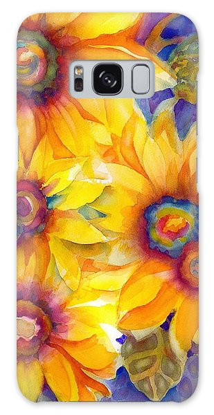 Sunflowers On Blue II Galaxy Case