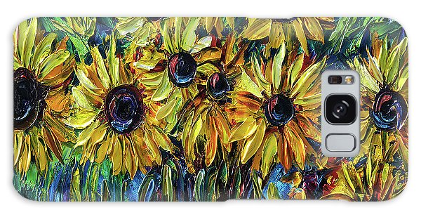 Sunflowers  Palette Knife Galaxy Case