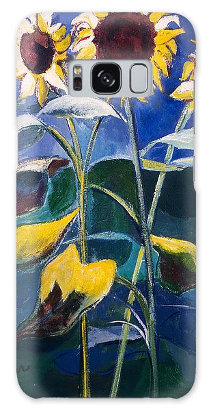 Sunflowers Standing Tall Galaxy Case by Betty Pieper