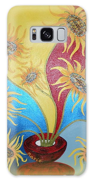 Sunflowers Symphony Galaxy Case by Marie Schwarzer