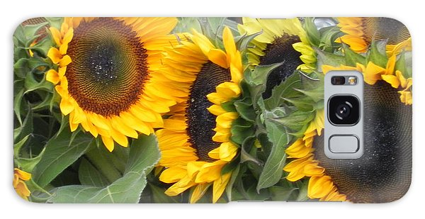 Sunflowers Two Galaxy Case by Chrisann Ellis